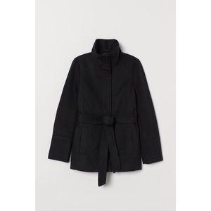 H&M tie belt coat jacket